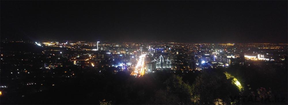 ночной город кок тобе