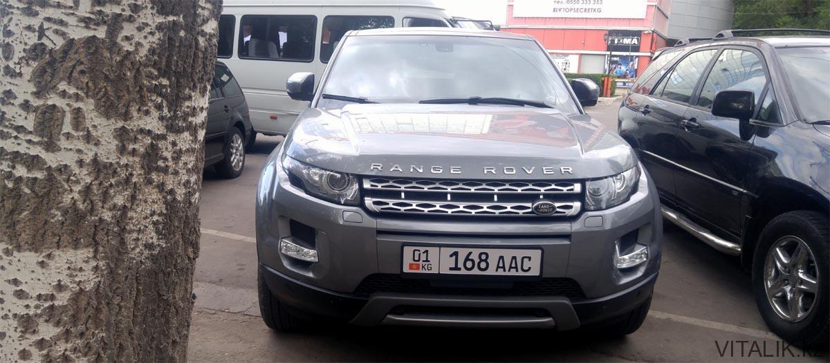 range rover в Бишкеке новые номера