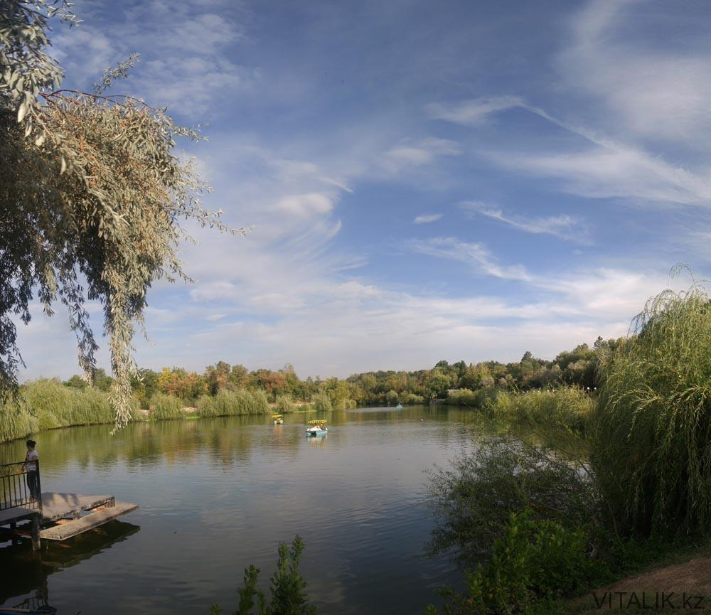дендропарк шымкент озеро