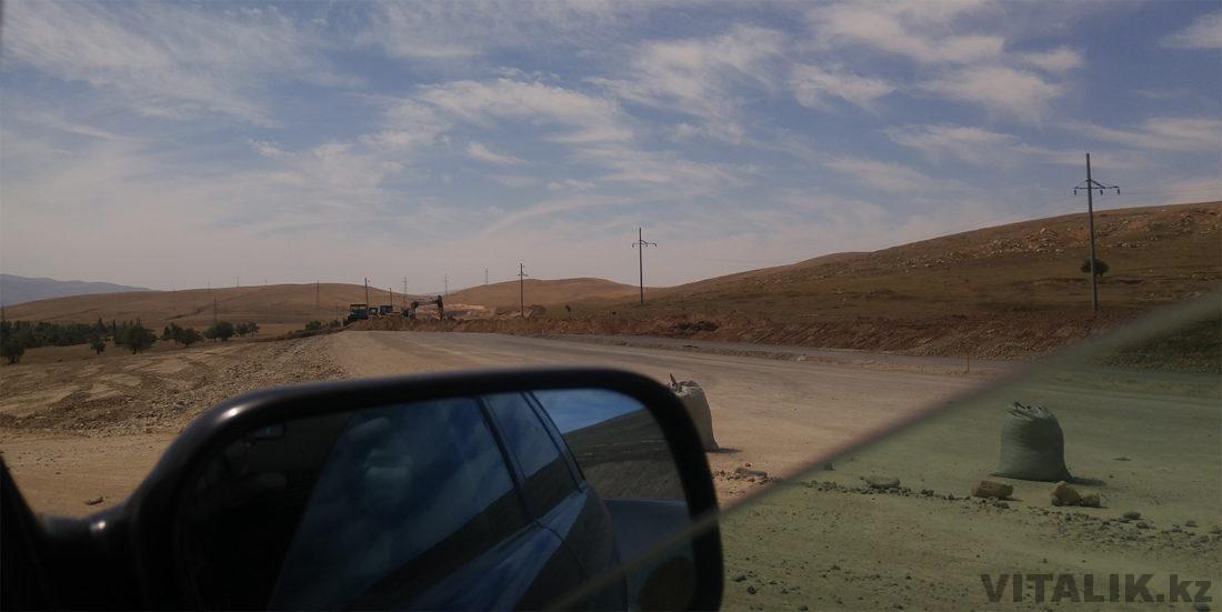 дорога из тараза в шымкент пейзаж