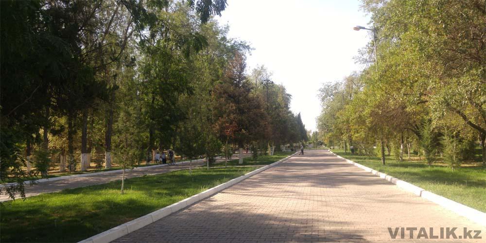 прогулка парк абая шымкент