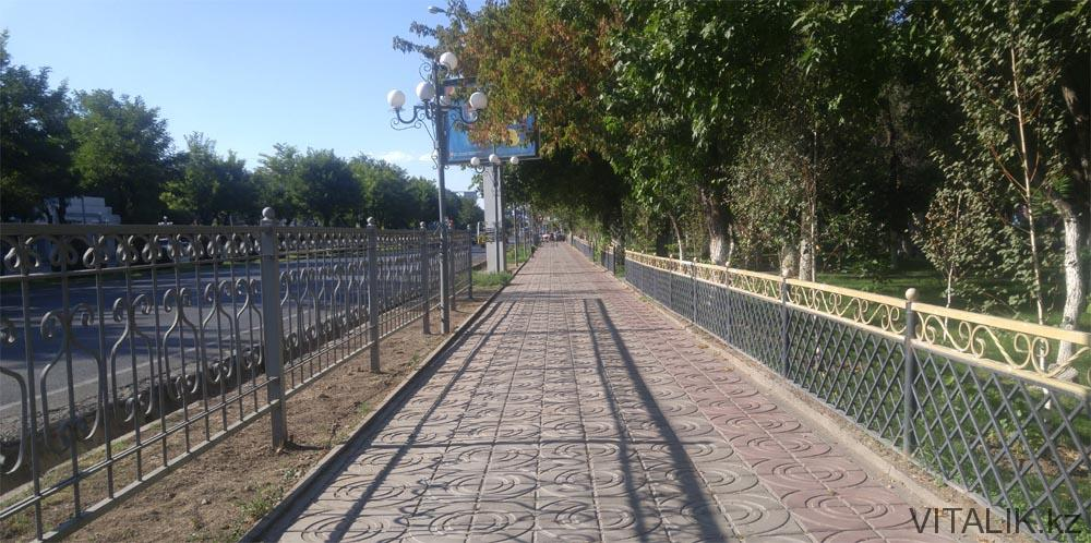 тротуар шымкент