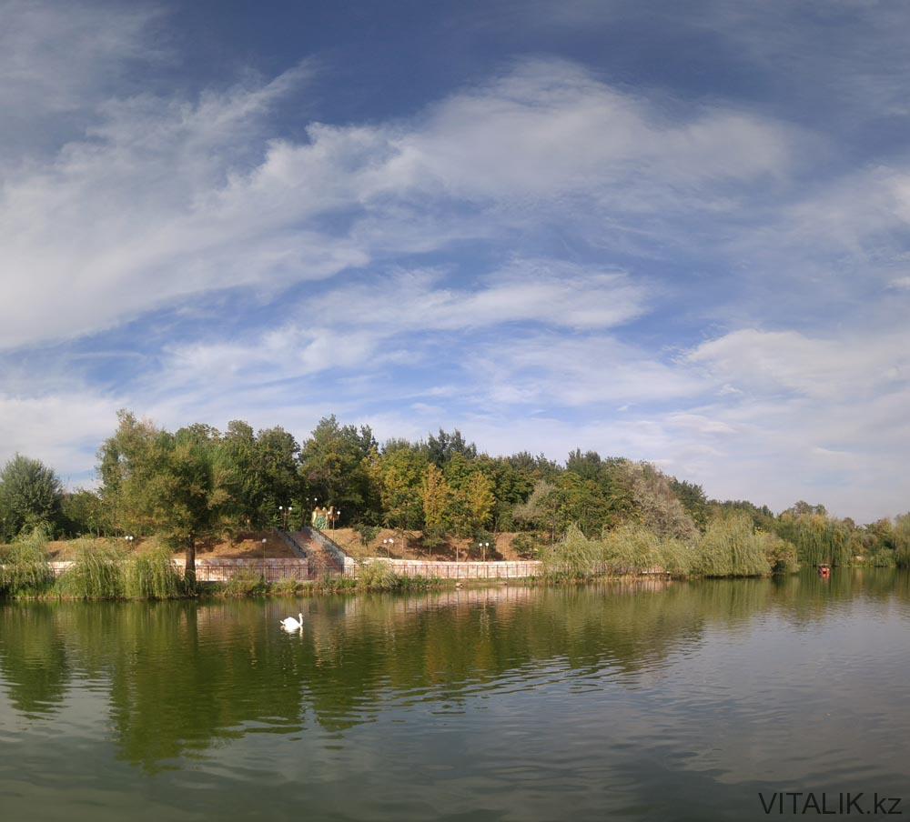 фотография озера дендропарк шымкент