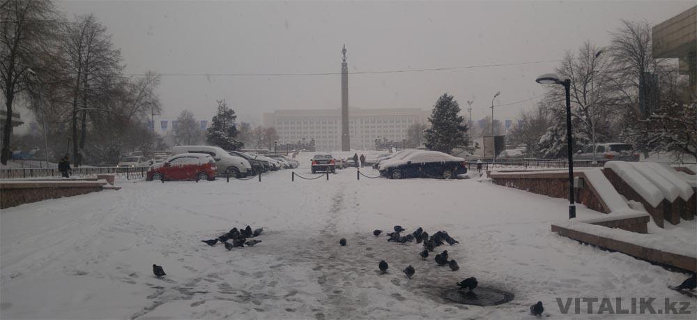 акимат алматы зимой