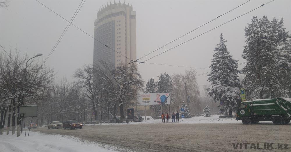 гостиница казахстан достык снег