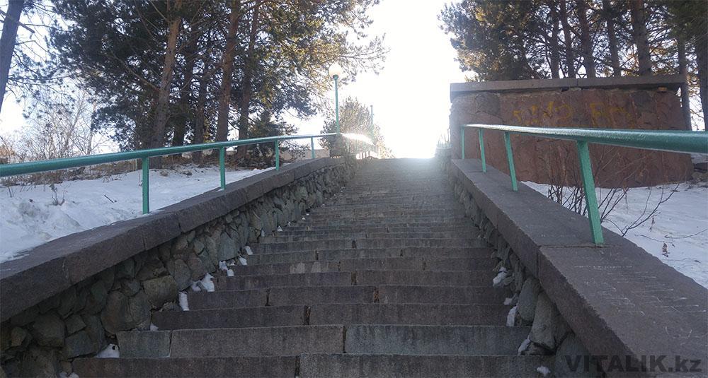 ступеньки подъем на плотину медео