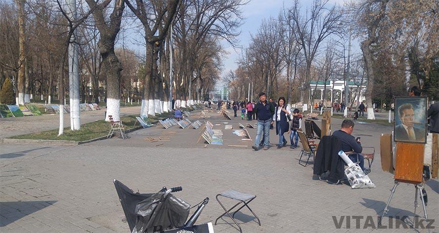 Картины Ташкент в центре города