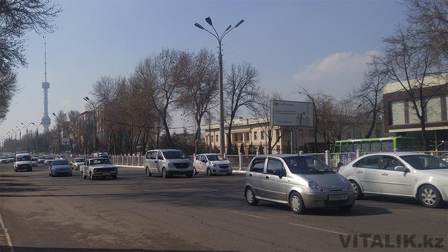 Ташкентская улица - автомобили телебашня