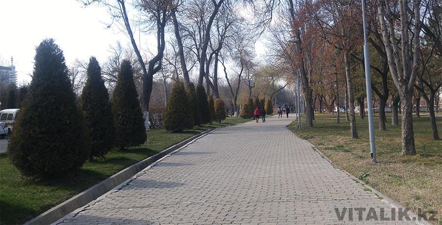 Тротуары в центре Ташкента
