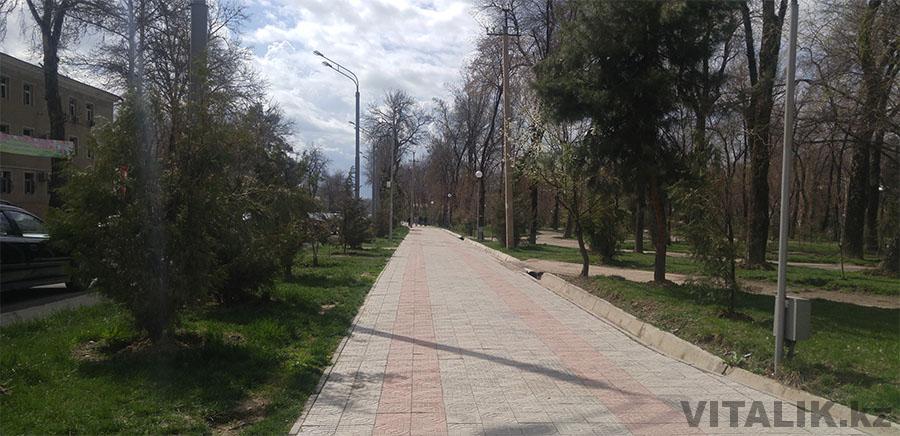 Весна в Душанбе