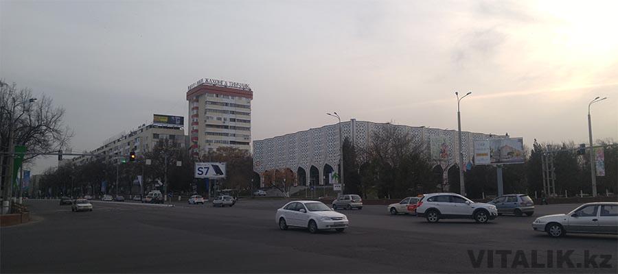 Вечерний Ташкент дорога