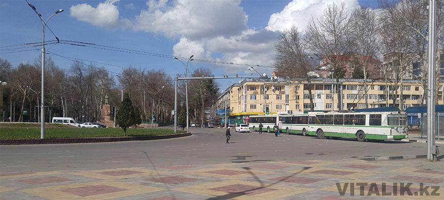 Вокзал Душанбе троллейбусы
