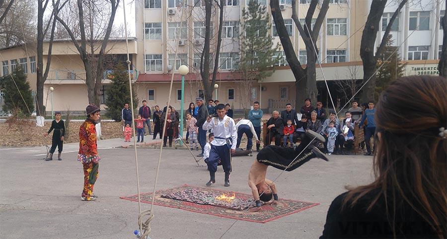 Выступление бродячего цирка Ташкент