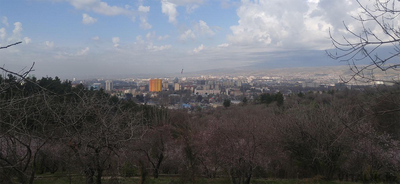 Душанбе 2017 панорама города