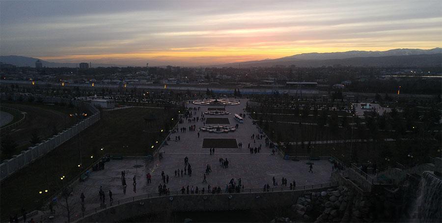 Закат солнца в Душанбе