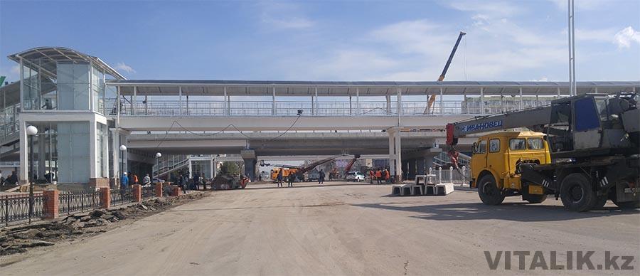 Мост метро Хамза Ташкент строительство