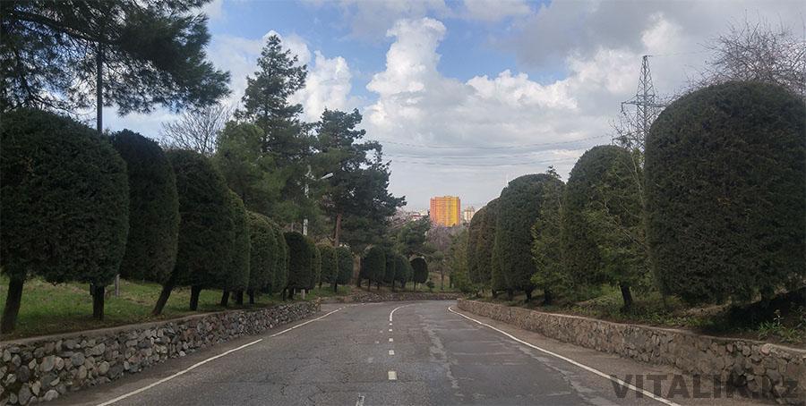 Парк Победы Душанбе асфальт