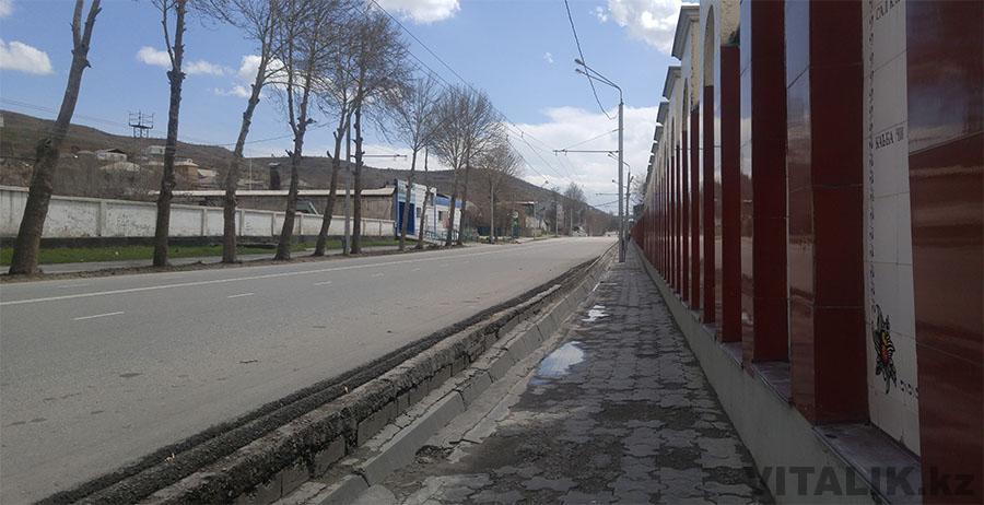 Район цементного завода Душанбе