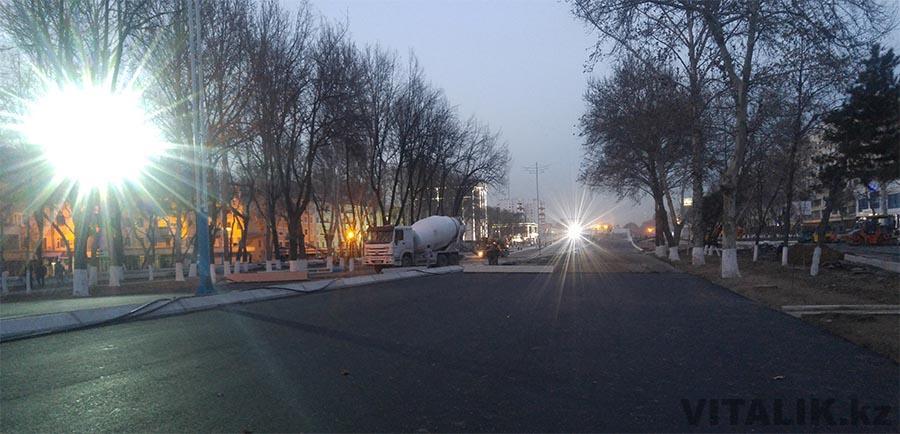 Строительство дороги станция метро Новза