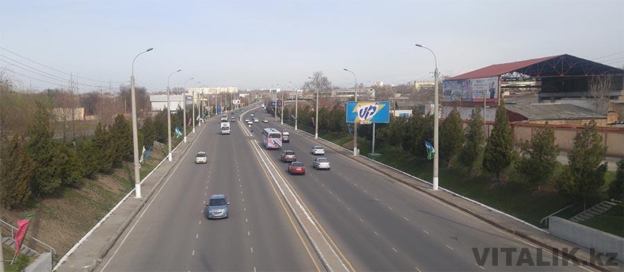 Улица Бойкент Ташкент с моста