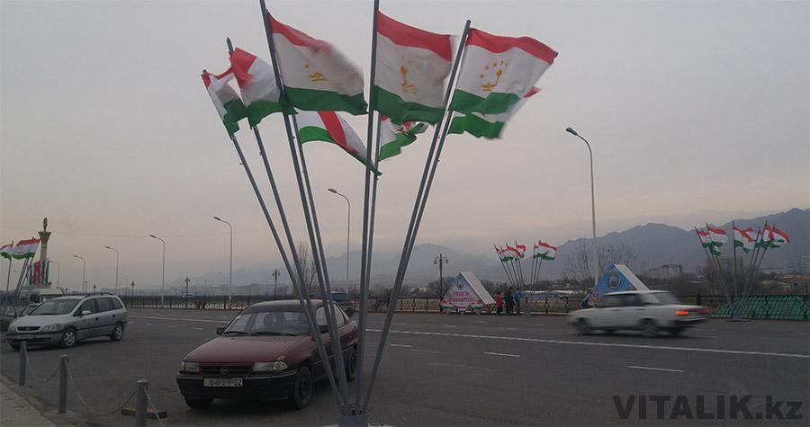 Флаг Таджикистана Худжанд