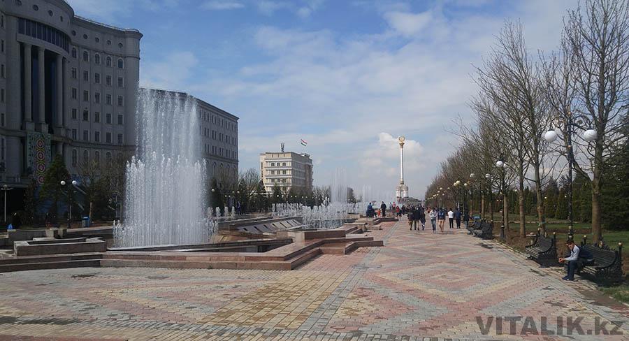 Фонтаны городской сад Душанбе