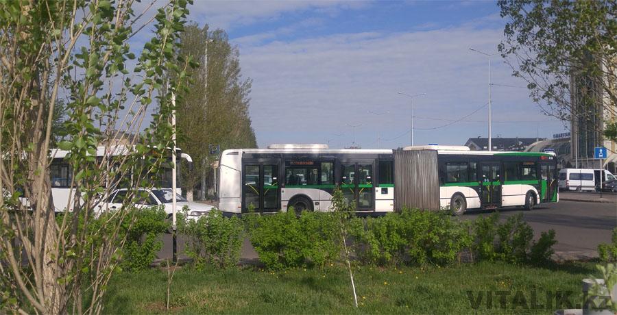 Автобус гармошка Астана