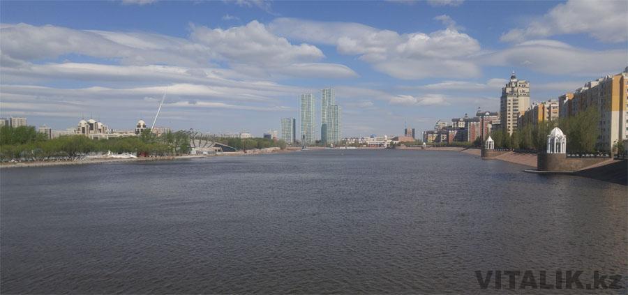 Вид на ЖК Гранд Алатау река Ишим