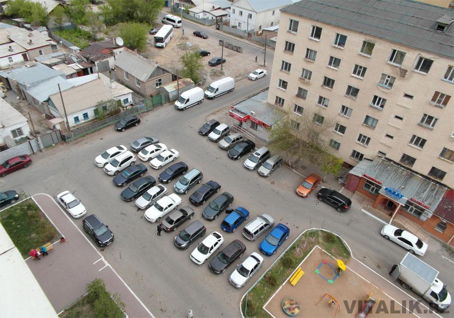 ЖК Солнечный Астана парковка
