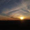 Закат над степью - дорога до Астаны