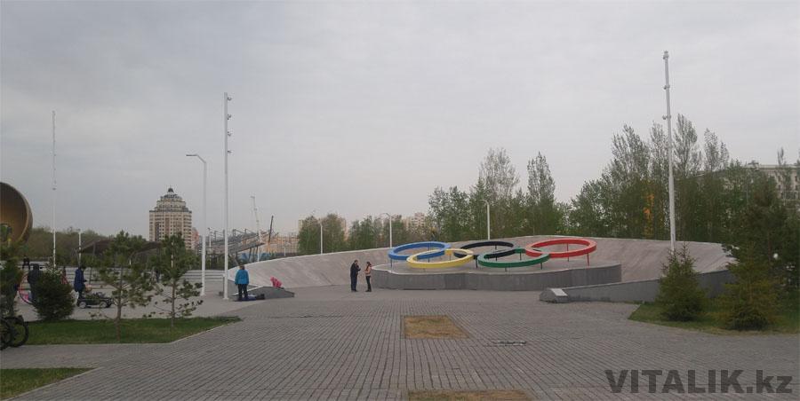 Олимпийские кольца Астана