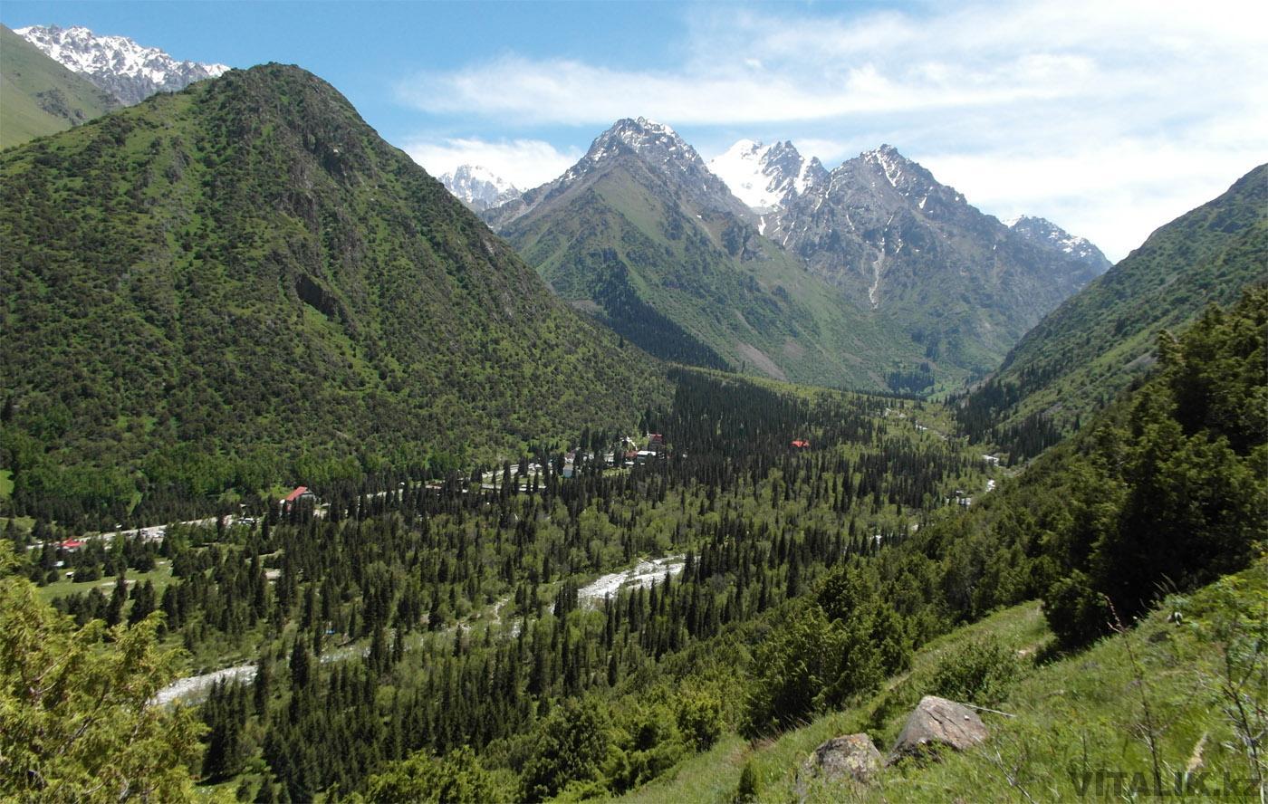 Вид на ущелье Ала Арча