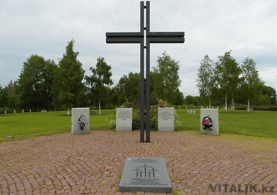 Крест немецкое кладбище Ржев