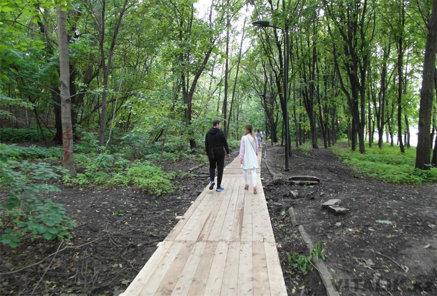 Деревянный помост Воробьёвы горы