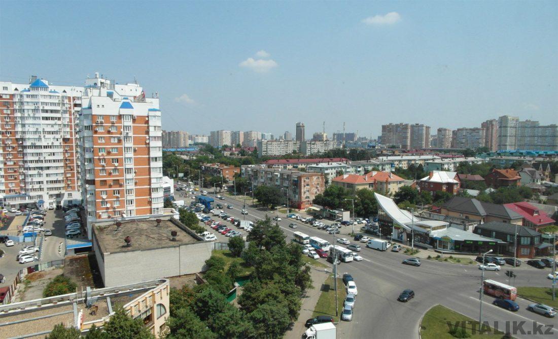 Краснодар вид с девятого этажа