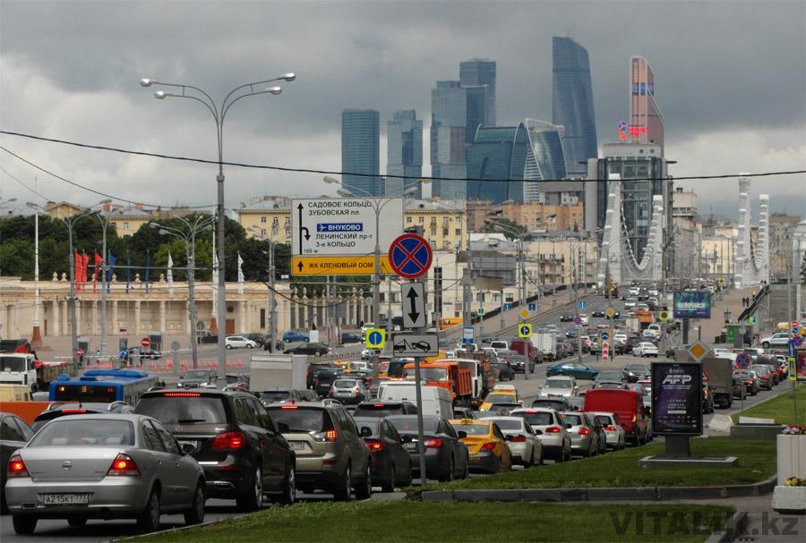 Москва Сити вид с Крымского моста