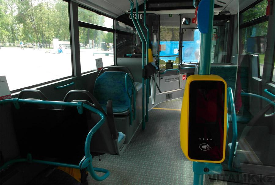Интерьер автобуса Мерседес