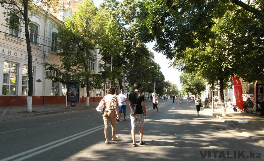 Перекрытая улица Красная