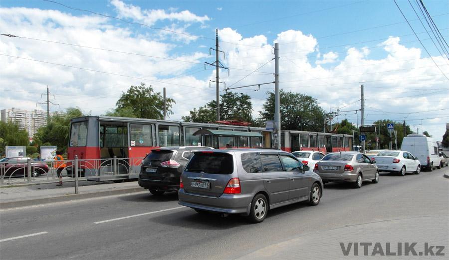 Трамвай на улице Москвовская Краснодар