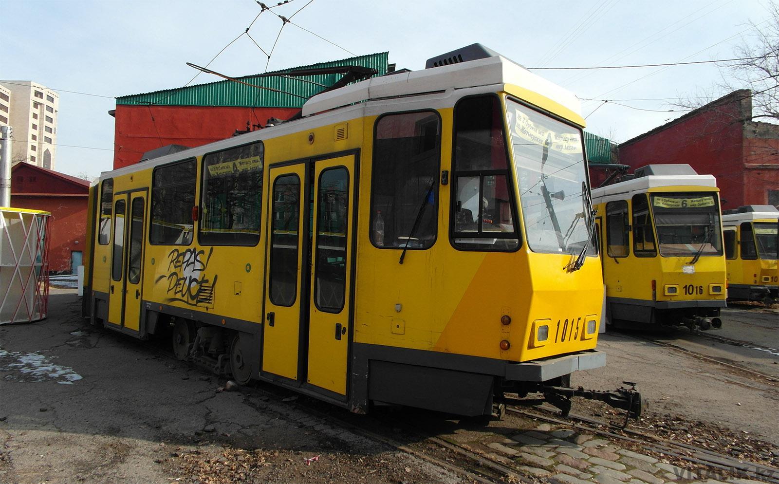 Трамвайное депо Алматы 2017