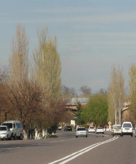 Дорога через Ташкент Узбекистан 2019